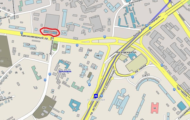 Карта расположения магазина
