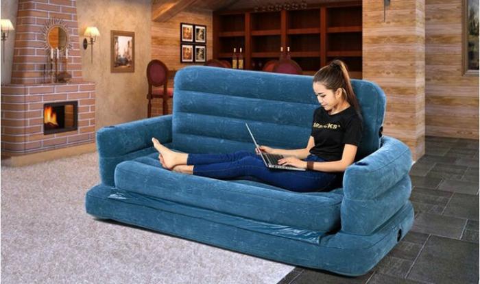 купить Intex 68566 интекс надувной диван трансформер 5 в 1